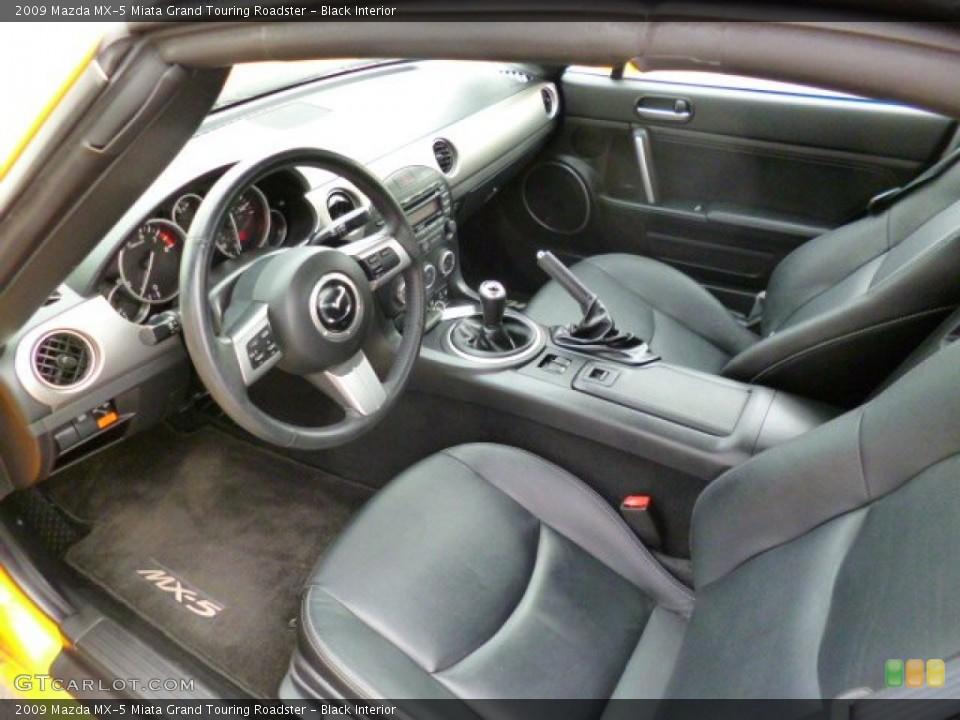 Black 2009 Mazda MX-5 Miata Interiors