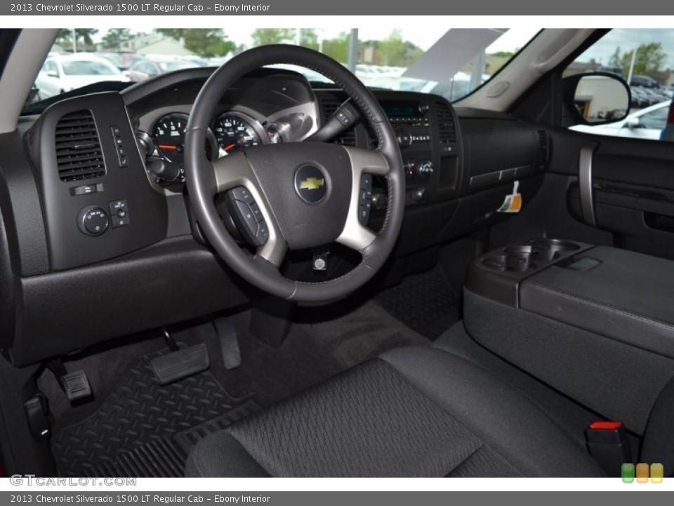 Ebony 2013 Chevrolet Silverado 1500 Interiors