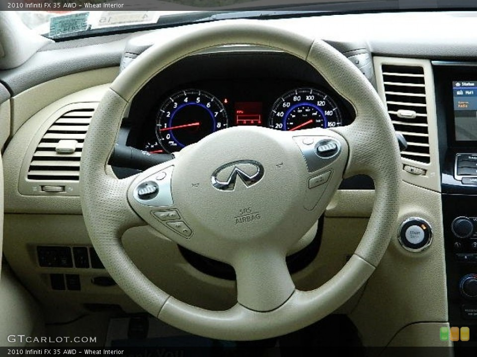 Wheat Interior Steering Wheel for the 2010 Infiniti FX 35 AWD #92282341
