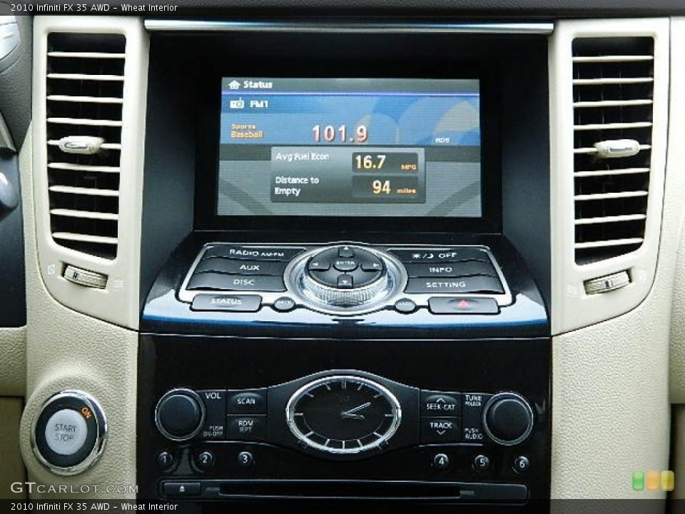 Wheat Interior Controls for the 2010 Infiniti FX 35 AWD #92282383