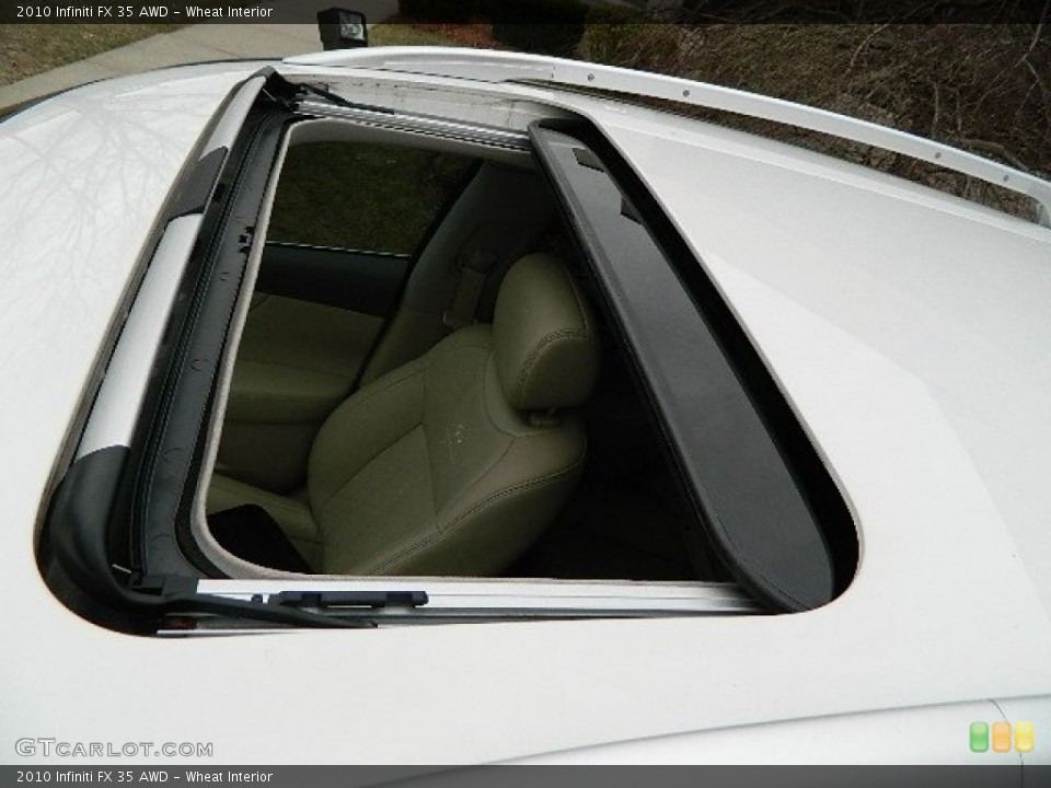 Wheat Interior Sunroof for the 2010 Infiniti FX 35 AWD #92282530