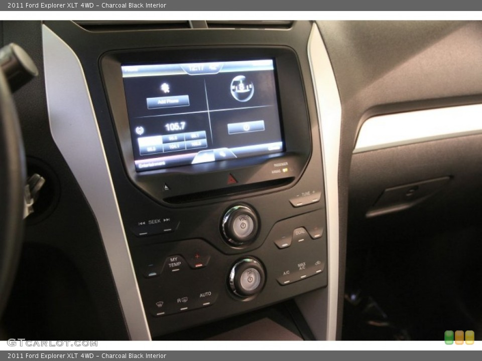 Charcoal Black Interior Controls for the 2011 Ford Explorer XLT 4WD #92360363