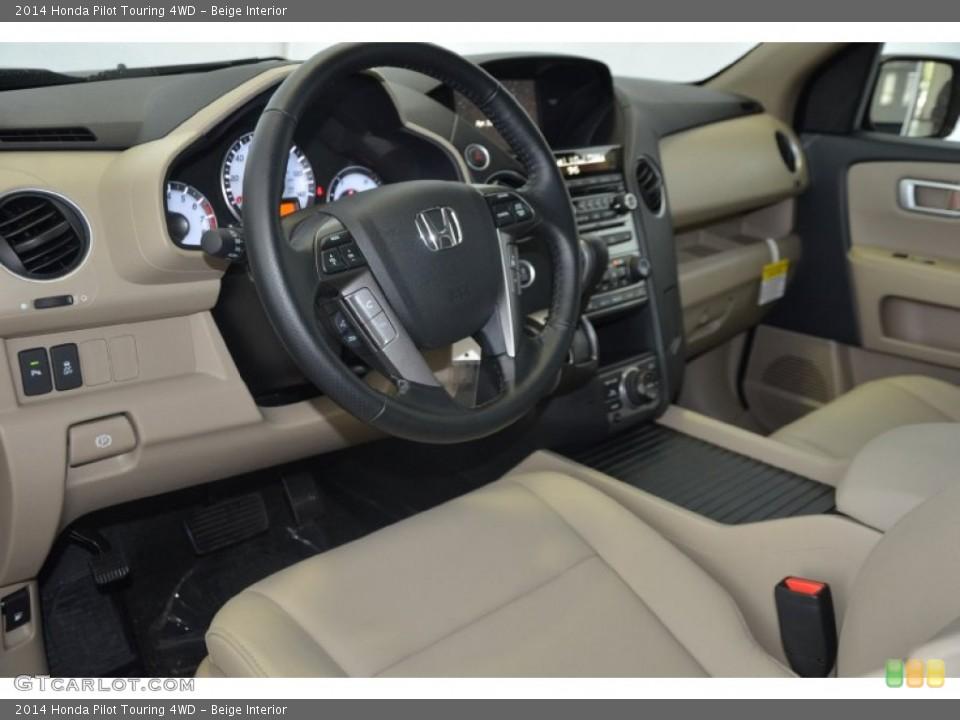 Beige 2014 Honda Pilot Interiors