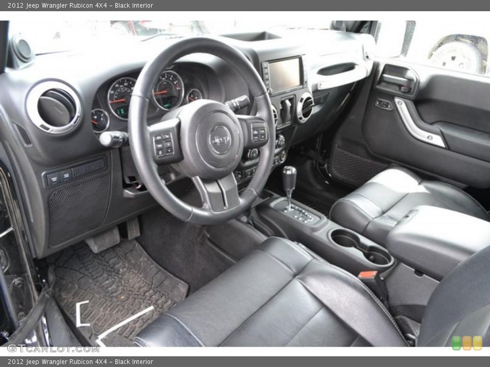 Black 2012 Jeep Wrangler Interiors