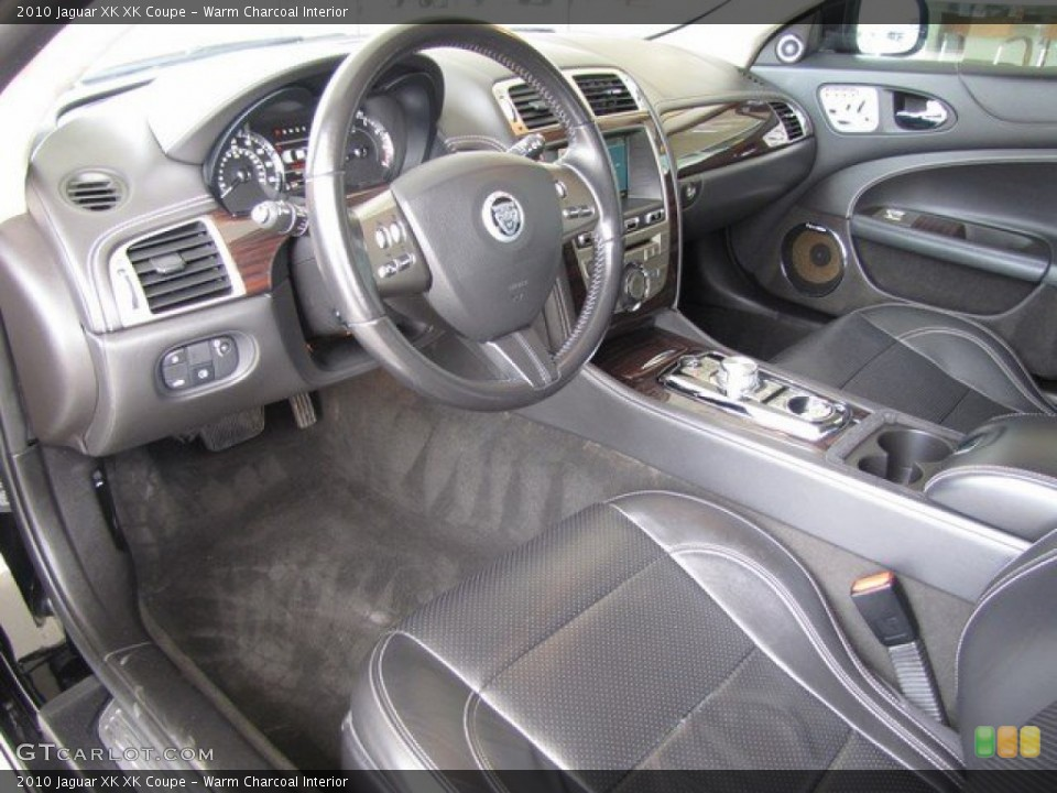 Warm Charcoal 2010 Jaguar XK Interiors