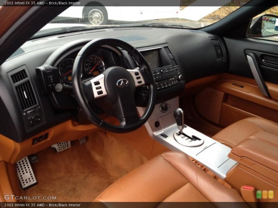 Brick/Black Interior Photo for the 2003 Infiniti FX 35 AWD #93358259