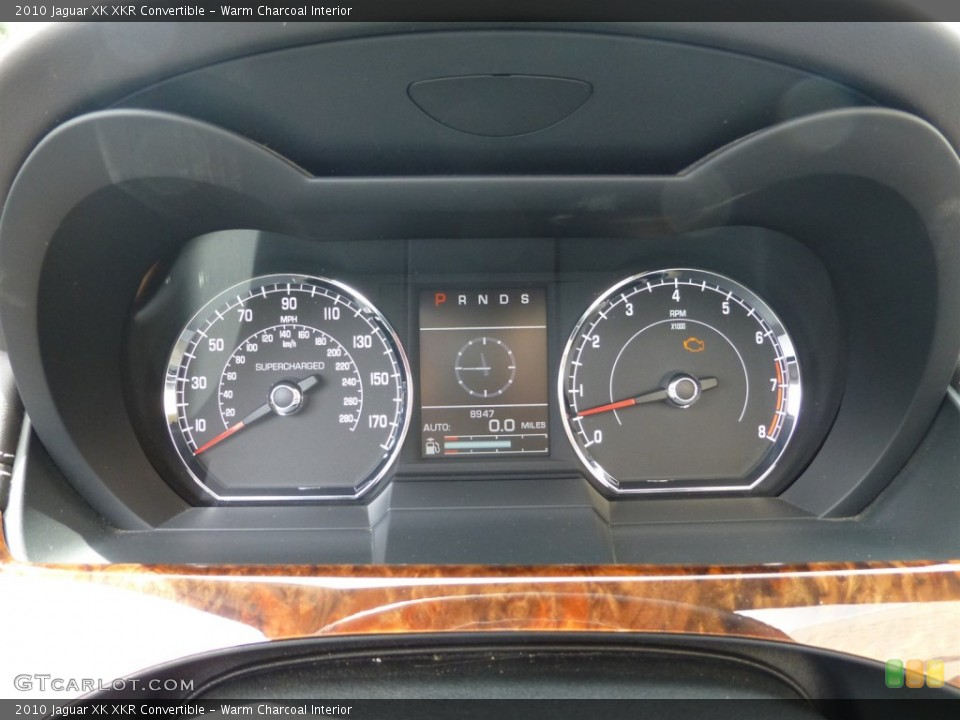 Warm Charcoal Interior Gauges for the 2010 Jaguar XK XKR Convertible #93624728