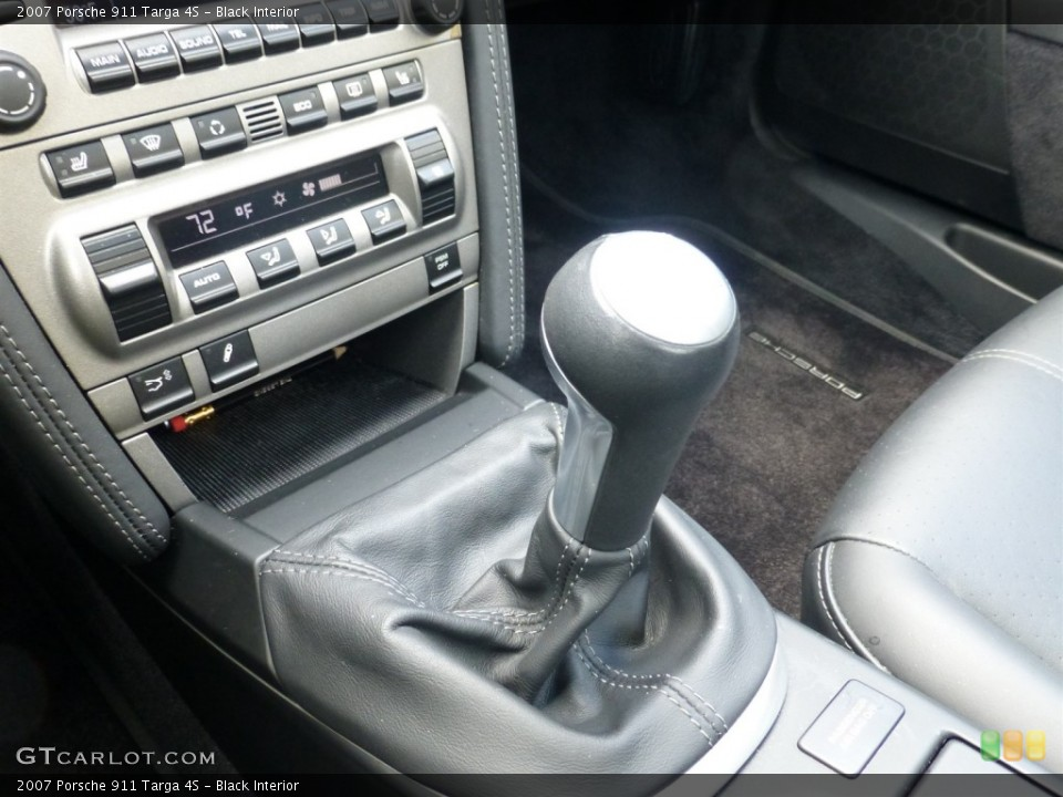 Black Interior Transmission for the 2007 Porsche 911 Targa 4S #93630435
