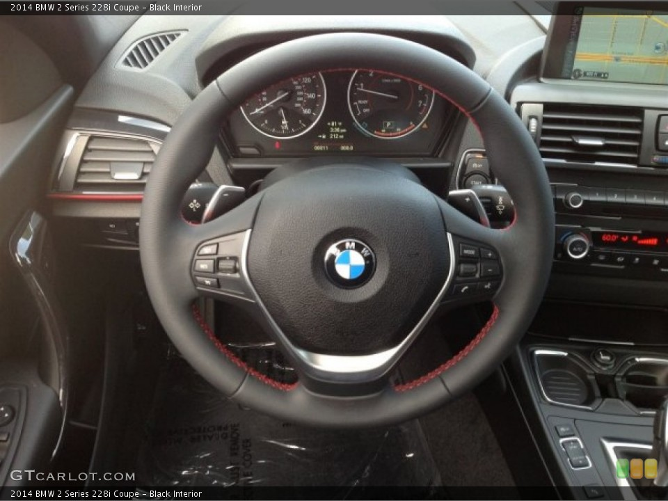 Black Interior Steering Wheel For The 2014 BMW 2 Series 228i Coupe 93694940