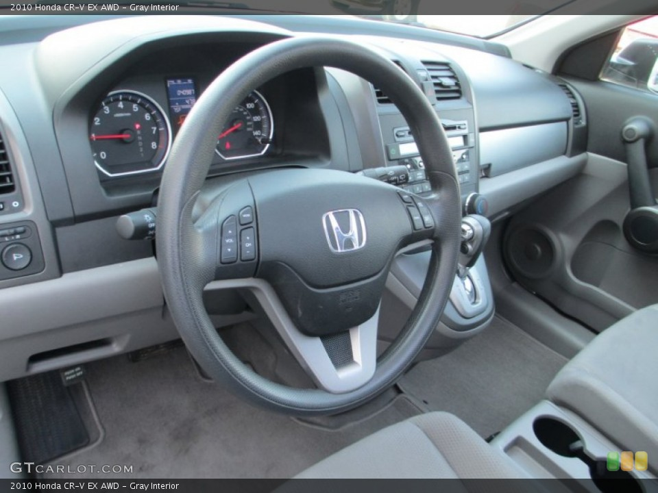 Gray Interior Dashboard for the 2010 Honda CR-V EX AWD #93791438