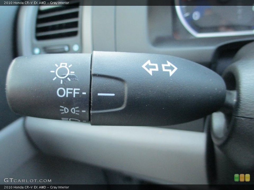 Gray Interior Controls for the 2010 Honda CR-V EX AWD #93791489