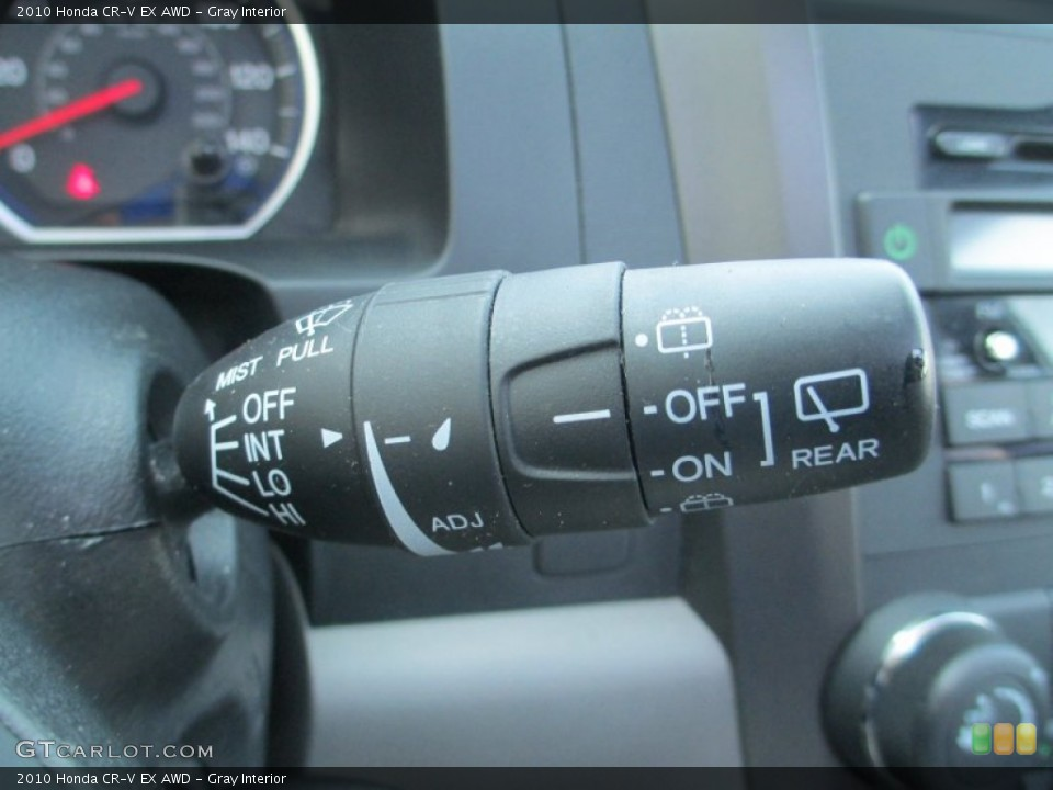 Gray Interior Controls for the 2010 Honda CR-V EX AWD #93791498