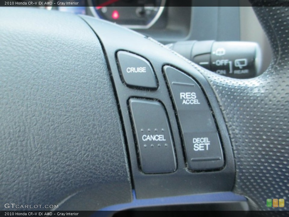 Gray Interior Controls for the 2010 Honda CR-V EX AWD #93791507