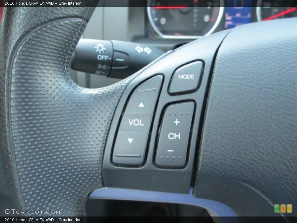 Gray Interior Controls for the 2010 Honda CR-V EX AWD #93791516