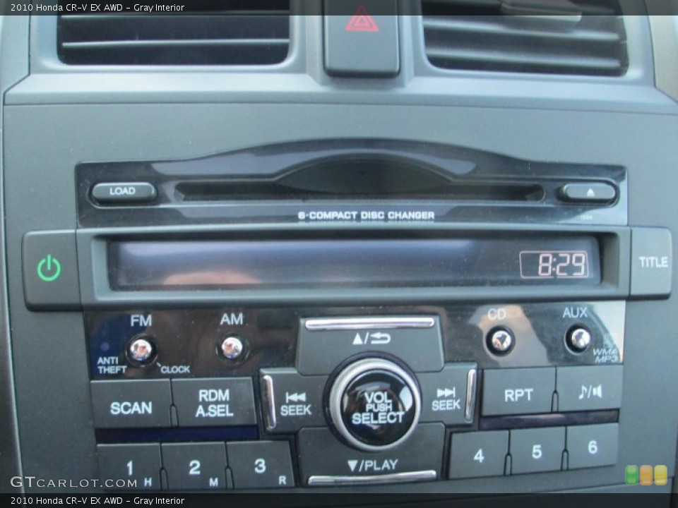 Gray Interior Audio System for the 2010 Honda CR-V EX AWD #93791534