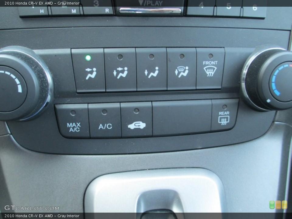 Gray Interior Controls for the 2010 Honda CR-V EX AWD #93791543
