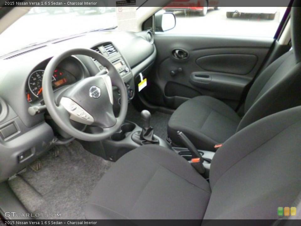 Charcoal 2015 Nissan Versa Interiors