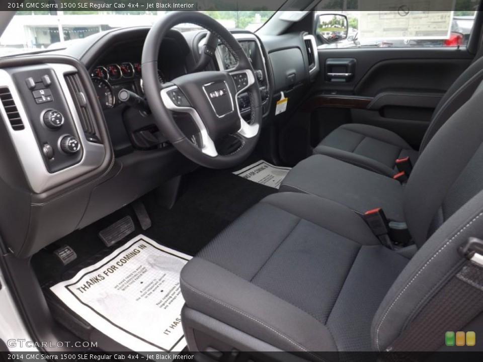 Jet Black 2014 GMC Sierra 1500 Interiors