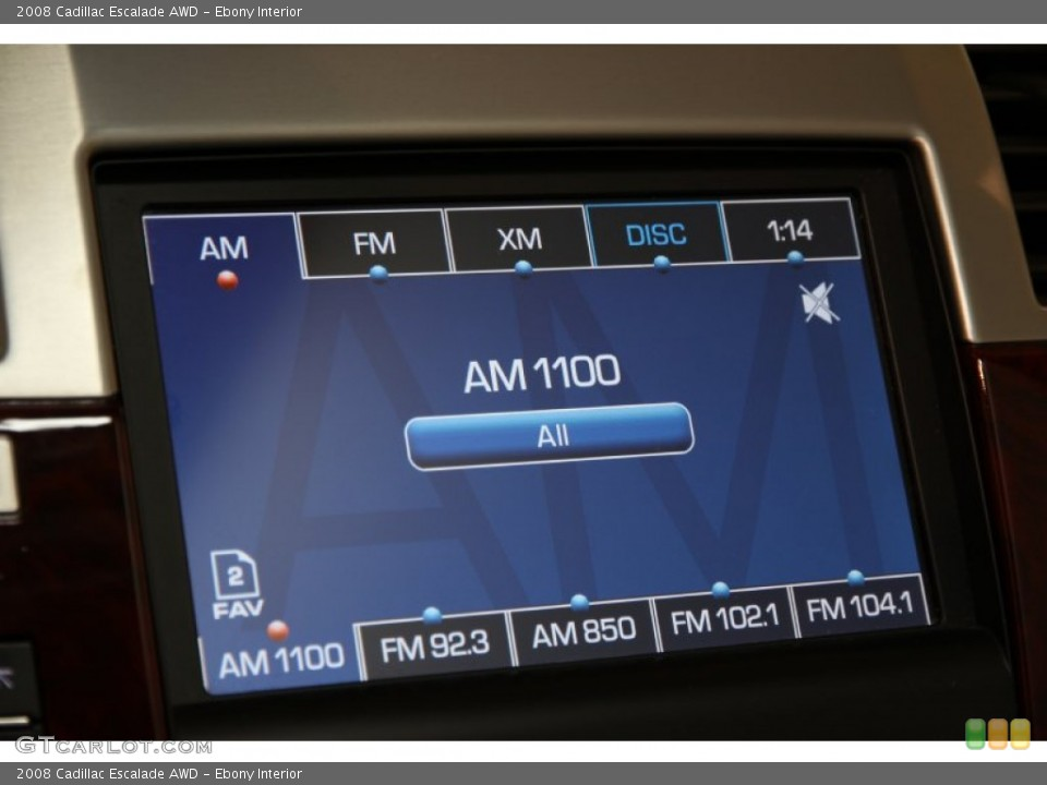 Ebony Interior Audio System for the 2008 Cadillac Escalade AWD #94796334