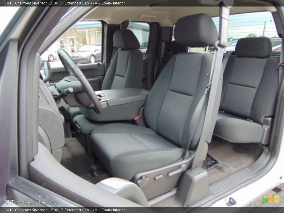 Ebony Interior Photo for the 2013 Chevrolet Silverado 1500 LT Extended Cab 4x4 #95203178