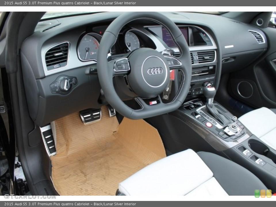 black lunar silver interior photo for the 2015 audi s5 3 0t premium plus quattro cabriolet 95650195 gtcarlot com gtcarlot com