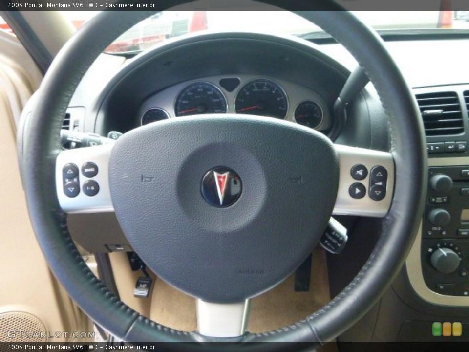 Cashmere Interior Steering Wheel for the 2005 Pontiac Montana SV6 FWD #95814108