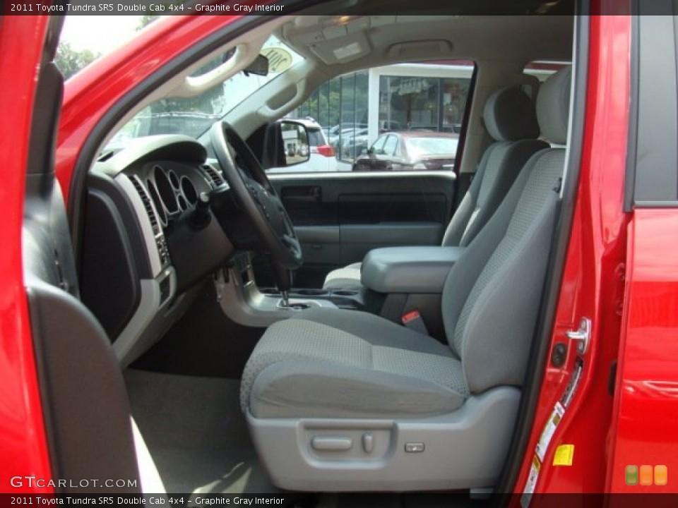 Graphite Gray Interior Photo for the 2011 Toyota Tundra SR5 Double Cab 4x4 #95930225