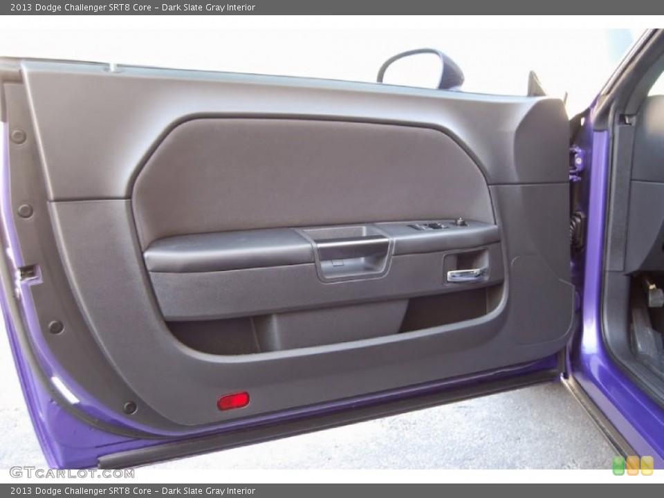Dark Slate Gray Interior Door Panel for the 2013 Dodge Challenger SRT8 Core #95948030