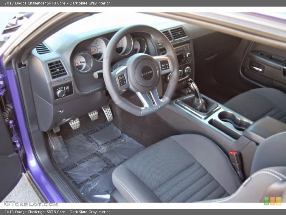 Dark Slate Gray 2013 Dodge Challenger Interiors