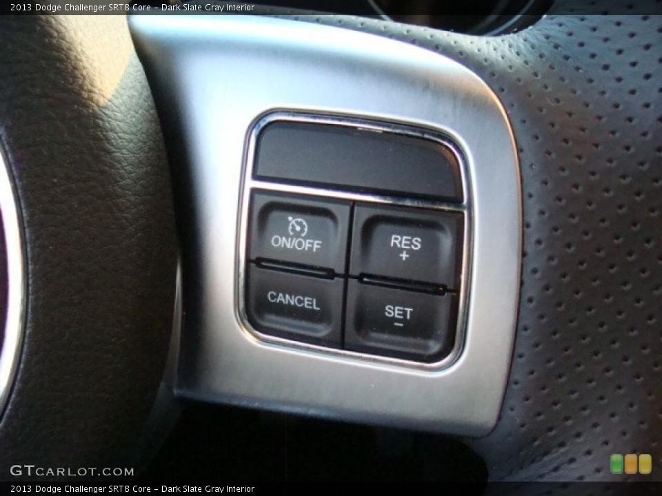 Dark Slate Gray Interior Controls for the 2013 Dodge Challenger SRT8 Core #96070710