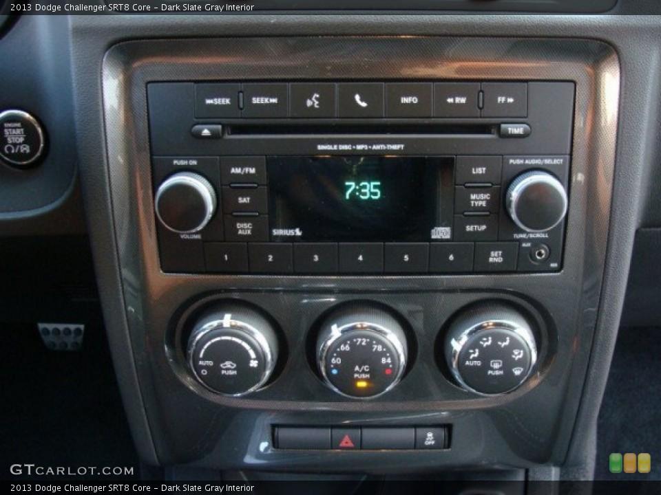 Dark Slate Gray Interior Controls for the 2013 Dodge Challenger SRT8 Core #96070758