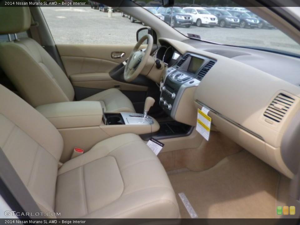 Beige 2014 Nissan Murano Interiors