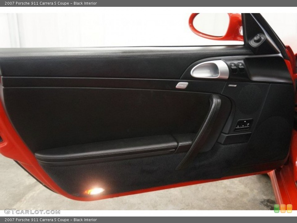 Black Interior Door Panel for the 2007 Porsche 911 Carrera S Coupe #96908653