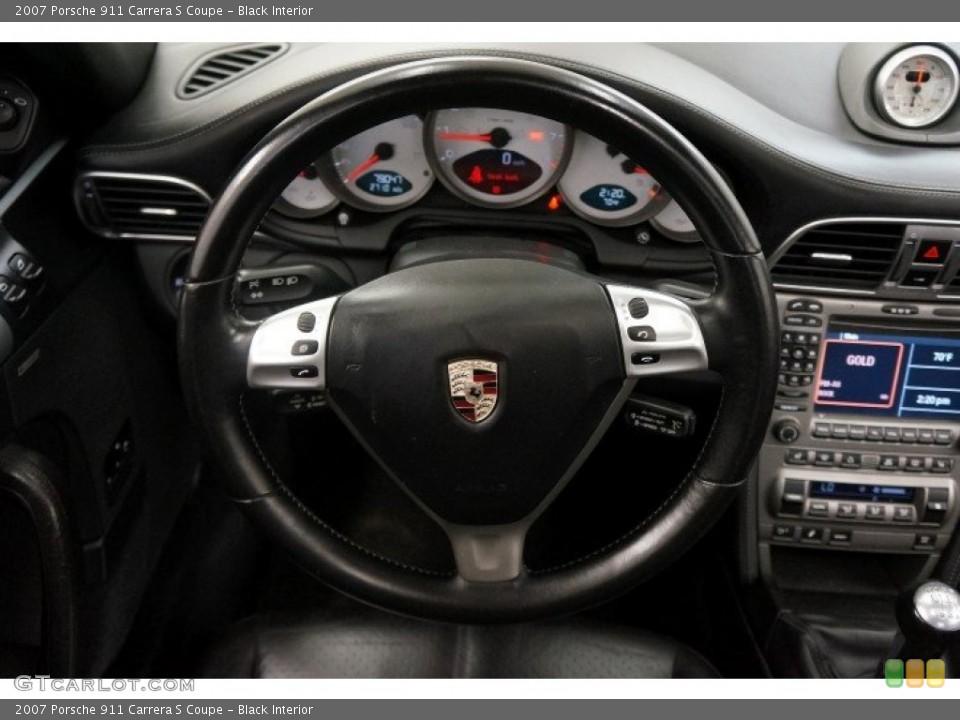 Black Interior Steering Wheel for the 2007 Porsche 911 Carrera S Coupe #96908731