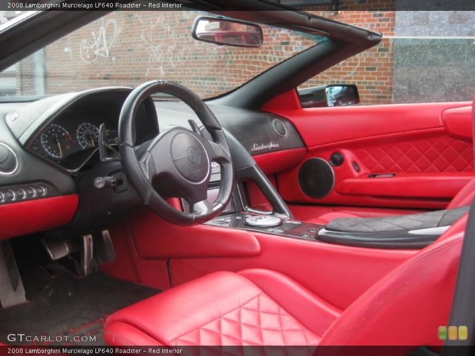 Red Interior Prime Interior For The 2008 Lamborghini Murcielago