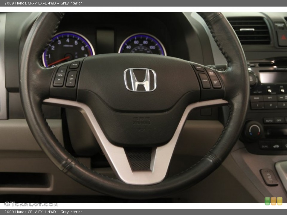 Gray Interior Steering Wheel for the 2009 Honda CR-V EX-L 4WD #97809324