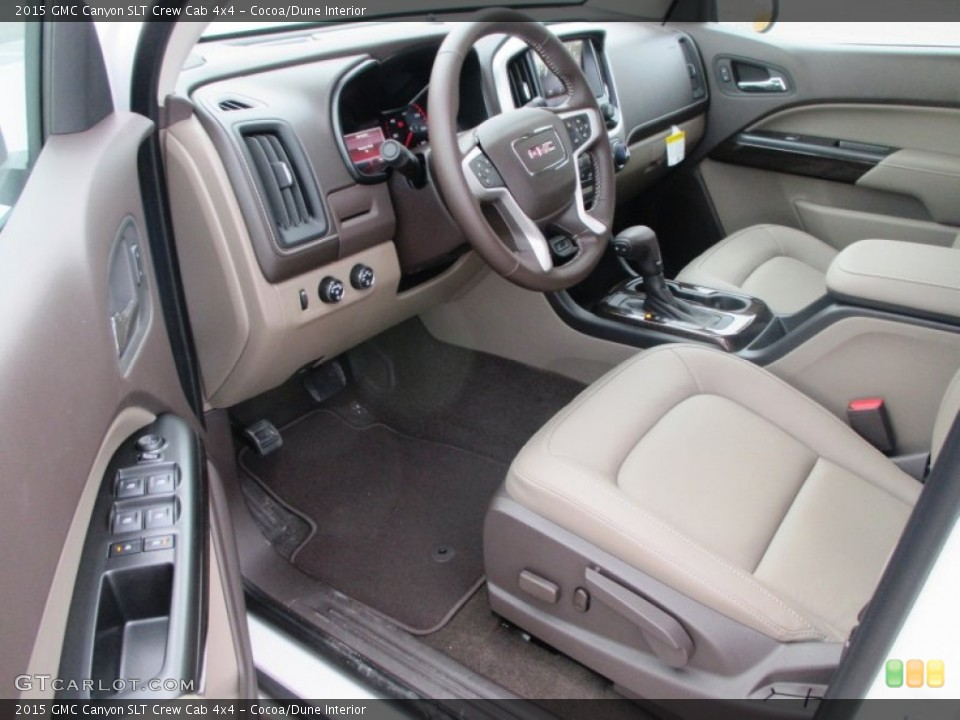 Cocoa/Dune Interior Photo for the 2015 GMC Canyon SLT Crew Cab 4x4 #98208279