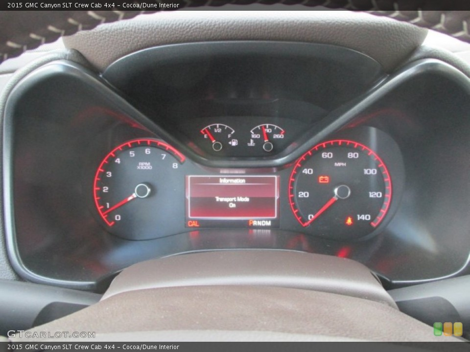 Cocoa/Dune Interior Gauges for the 2015 GMC Canyon SLT Crew Cab 4x4 #98208645