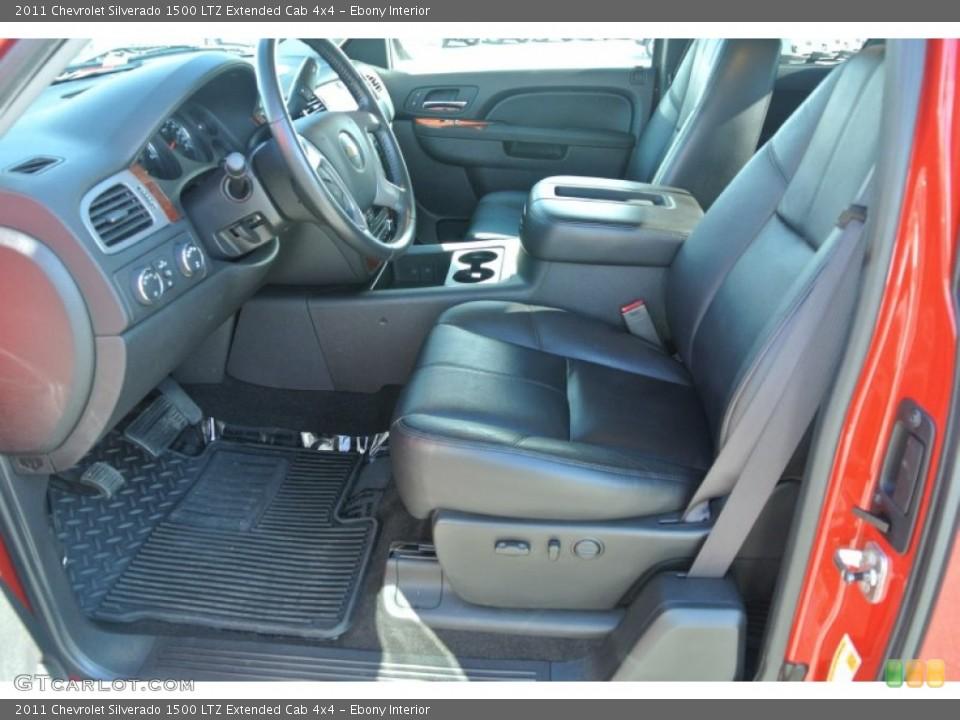 Ebony Interior Photo for the 2011 Chevrolet Silverado 1500 LTZ Extended Cab 4x4 #98224921