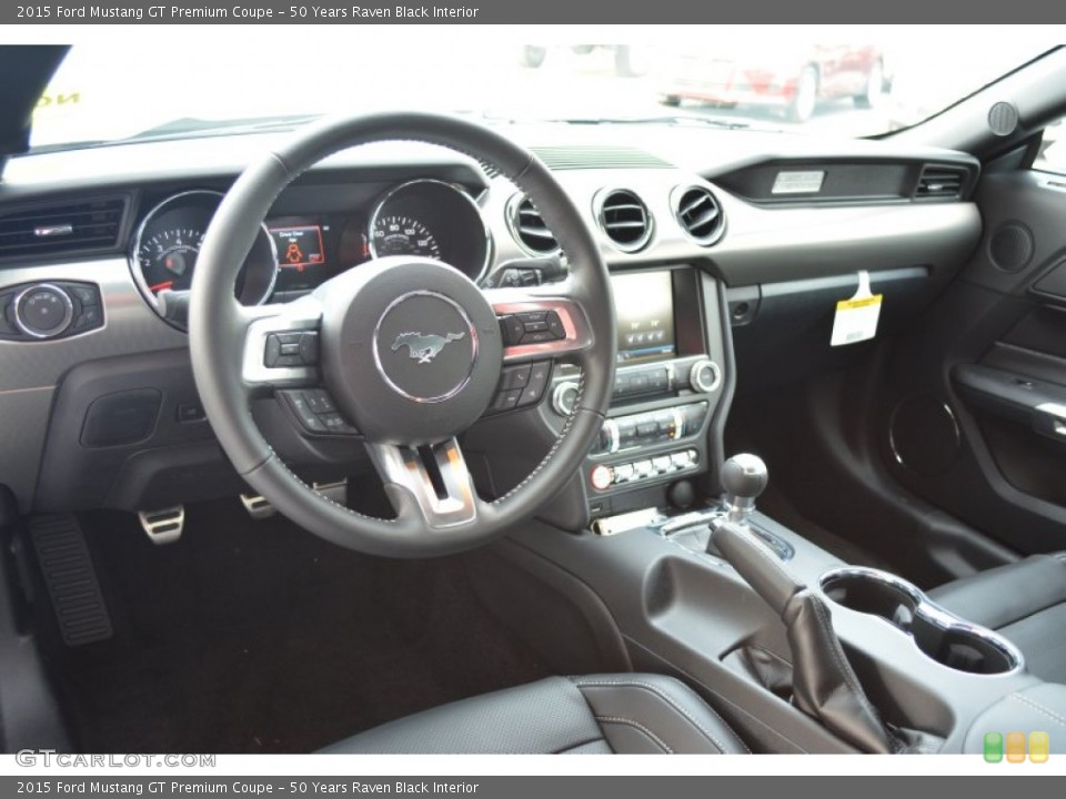 50 Years Raven Black 2015 Ford Mustang Interiors