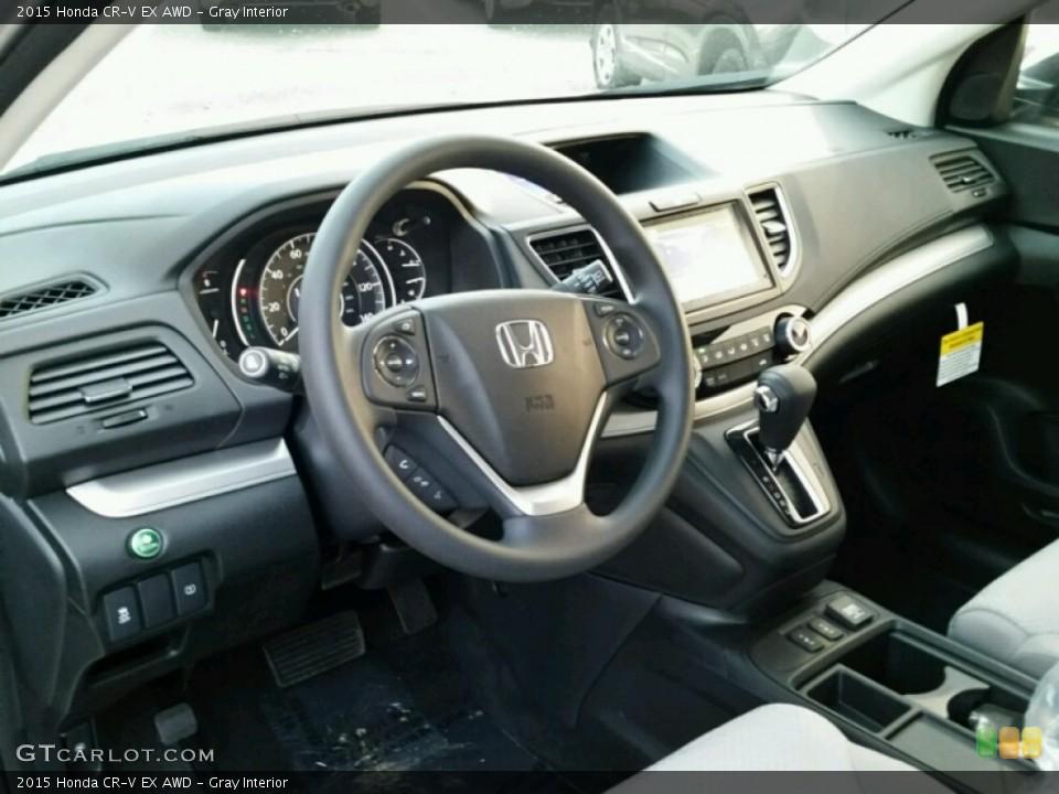 Gray Interior Photo for the 2015 Honda CR-V EX AWD #98935840