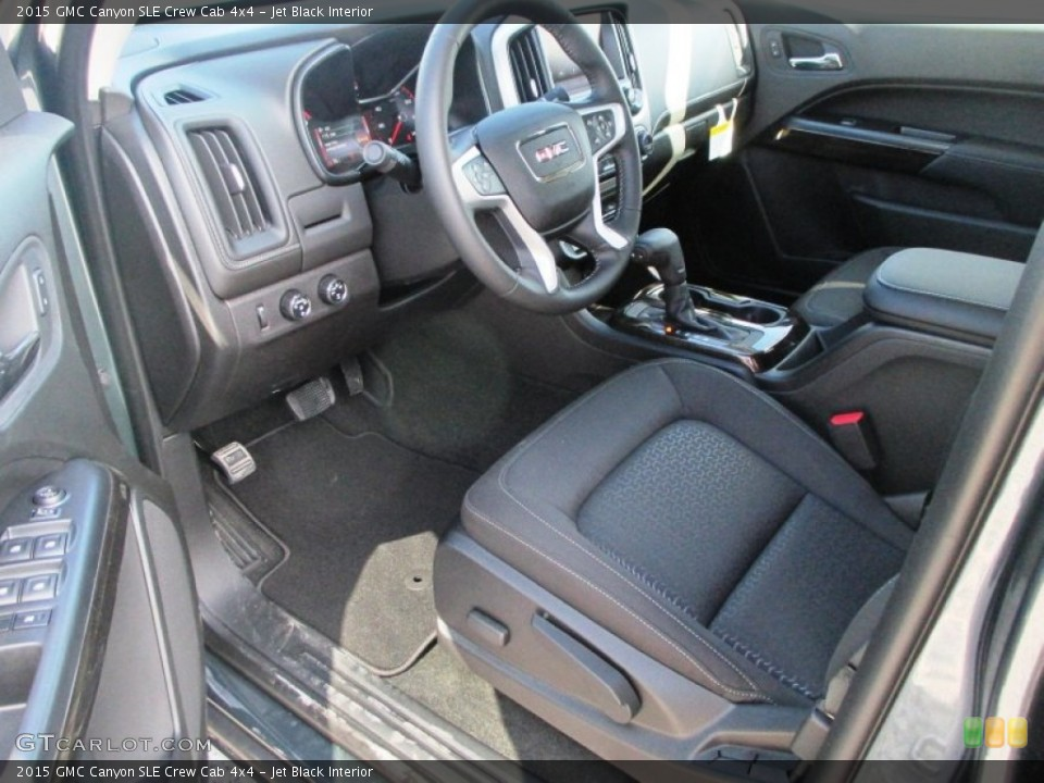 Jet Black Interior Photo for the 2015 GMC Canyon SLE Crew Cab 4x4 #99071625