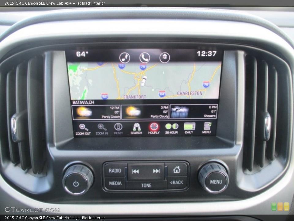 Jet Black Interior Navigation for the 2015 GMC Canyon SLE Crew Cab 4x4 #99071643