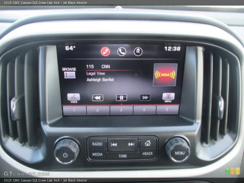 Jet Black Interior Controls for the 2015 GMC Canyon SLE Crew Cab 4x4 #99071646