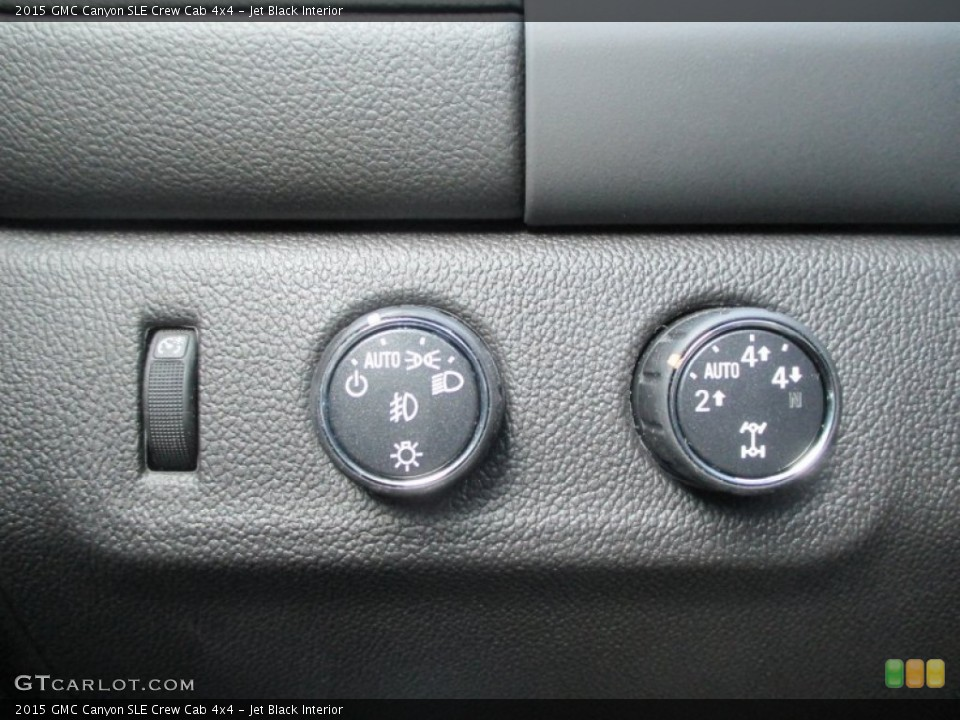 Jet Black Interior Controls for the 2015 GMC Canyon SLE Crew Cab 4x4 #99071679