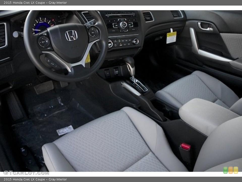 Gray 2015 Honda Civic Interiors