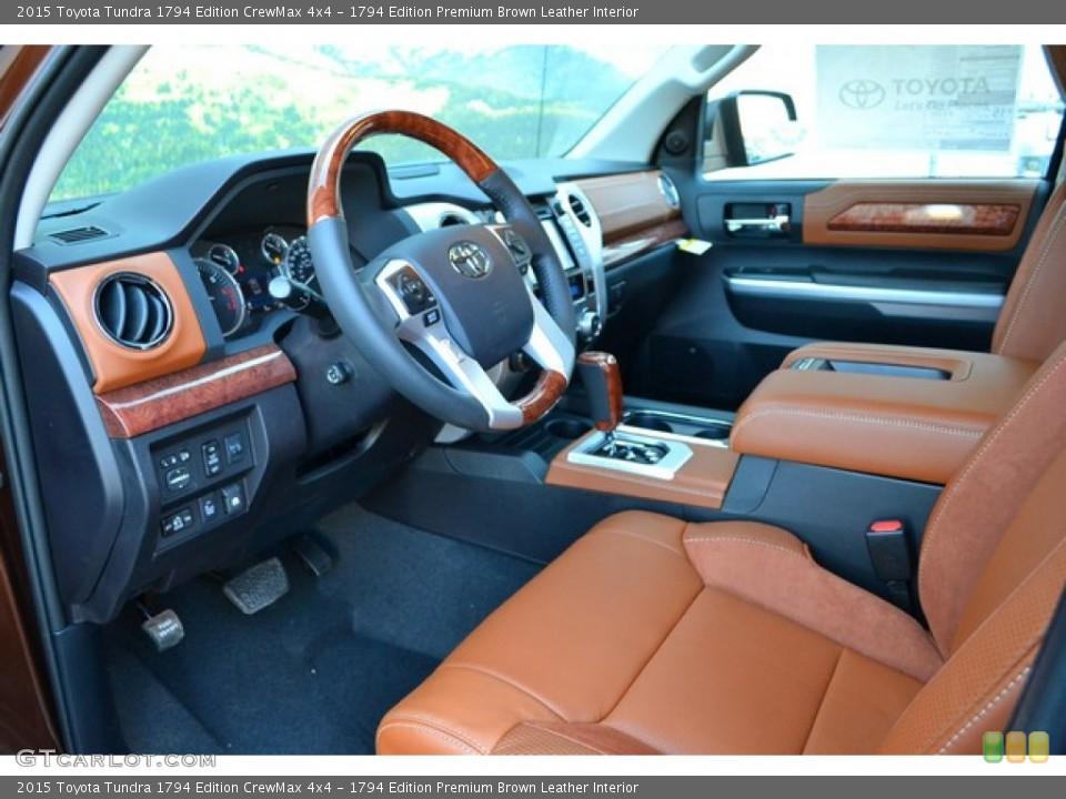 1794 Edition Premium Brown Leather 2015 Toyota Tundra Interiors