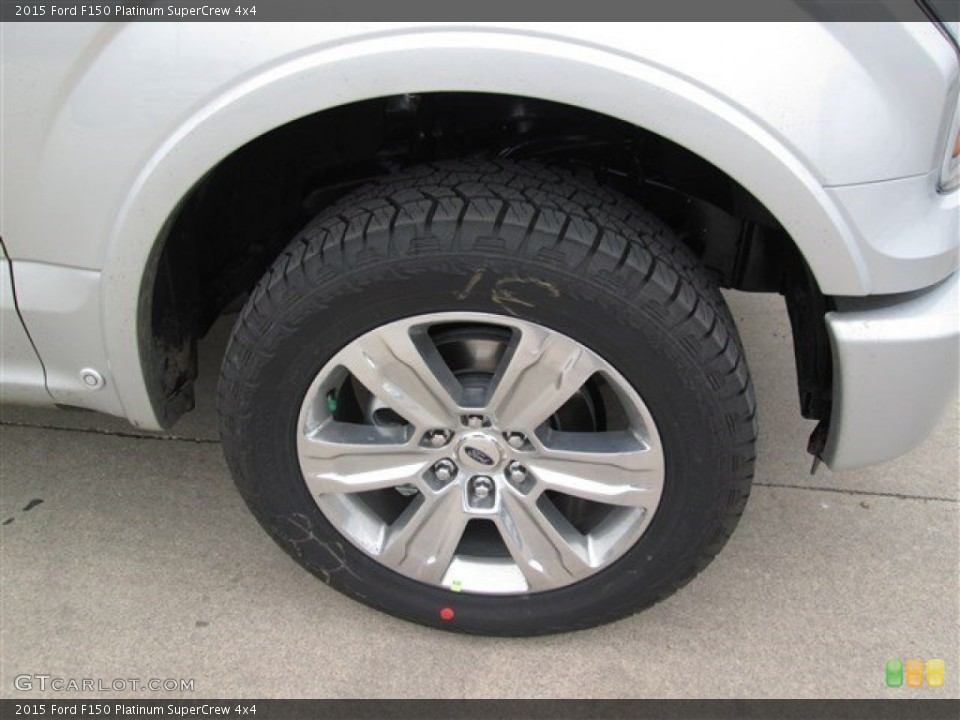 2015 Ford F150 Platinum SuperCrew 4x4 Wheel and Tire Photo #101592413