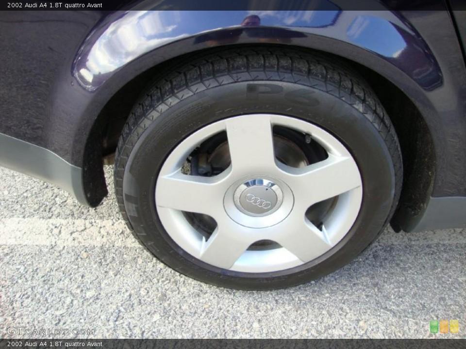2002 Audi A4 1 8t Quattro Avant Wheel And Tire Photo