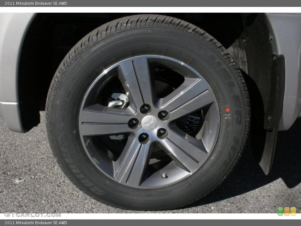 2011 Mitsubishi Endeavor SE AWD Wheel and Tire Photo #39908811